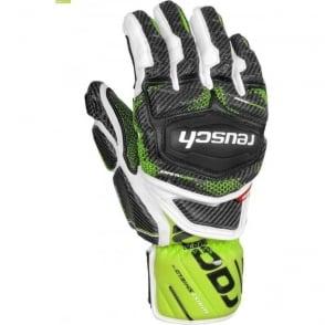 Tec 16 GS Ski Race Glove - White/Green/Black