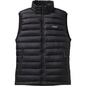 Men's Down Sweater Vest - Black