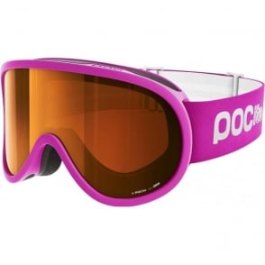 Junior Pocito Retina Goggles - Fluorescent Pink with Sonar Orange Lens