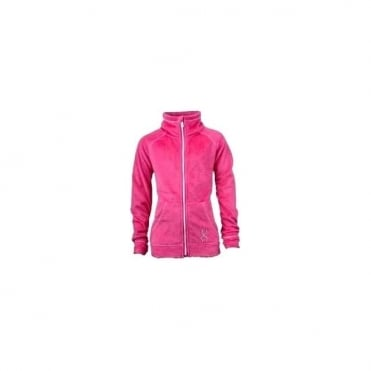 Wmns Damsel Fleece Jacket - Hot Pink