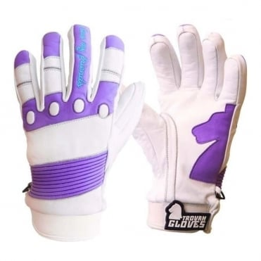 Wmns T4 Shorty Glove - White/Purple