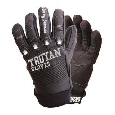 Unisex T4 Shorty Glove - Black/Stitch