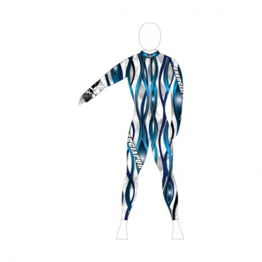 Adult Wave Padded Race Catsuit - Blue