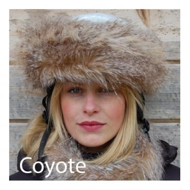 Fur Helmet Headband - Coyote