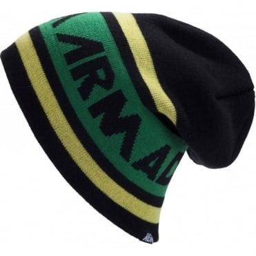 Beanie Tri Jaq - Black/Green/Yellow