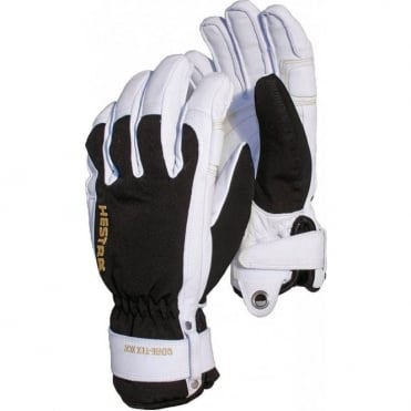 Mens Army Leather Short Gore-tex Glove - Black/White