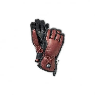 Mens Alpine Pro Leather Swisswool Merino Glove - Brown/Black