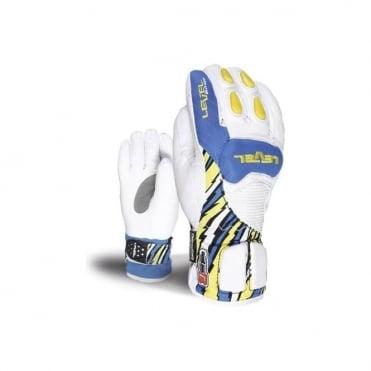 Junior Axel CF Race Gloves - White/Blue