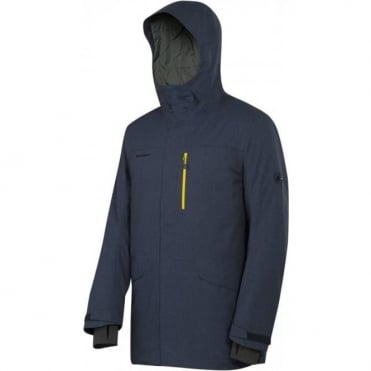 Mens Trift Parka Jacket - Navy Blue