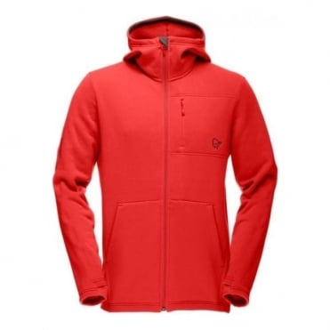 Mens Narvik Warm2 Stretch Zip Hood - Red