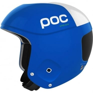 Skull Orbic Comp Helmet - Krypton Blue/White ( FIS Approved )