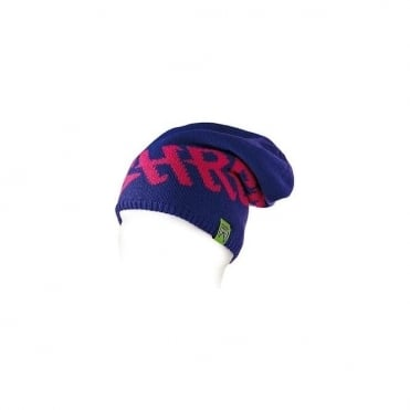 Heavy Knitted Beanie - Purple/Pink