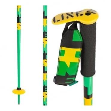 Pin Ski Poles- Black/Green. Bargain price!!!