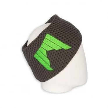 Heavy Knitted Headband - Grey/Green