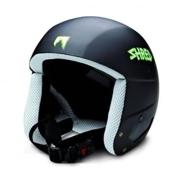 Mega Brain Bucket Helmet Schwartz - Black (Non FIS)