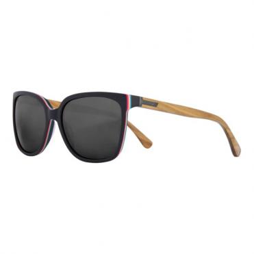 Vanna Shrastawood Sunglasses - Black/Wood