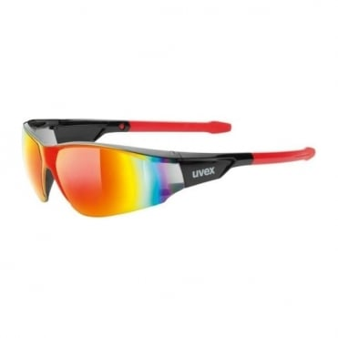 Uvex Sunglasses Sportstyle 218 Red/Black Red Mirror Lens Cat. 3