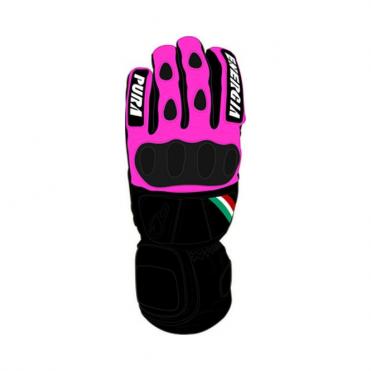 Bicolour Slalom Glove - Black / Pink