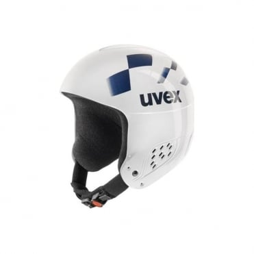 Helmet Wing Jump Race - White/Blue (Non FIS)