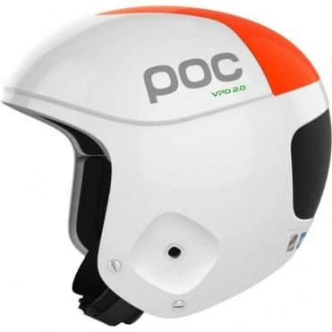 Skull Orbic Comp Helmet - Hydrogen White/Orange ( FIS Approved )