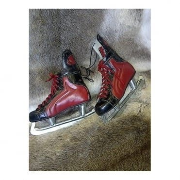 Retro Leather Ice Skates (No. 514)