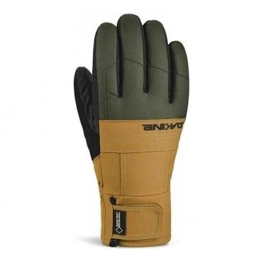 Mens Bronco Field Glove - Green/Light Brown