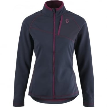 Wmns Mid Layer Defined Tech Jacket - Navy