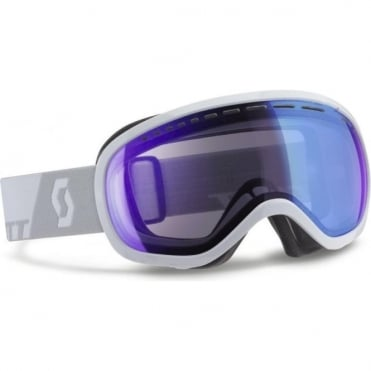 Off-Grid Goggles - White with Blue Chrome Illuminator Lens