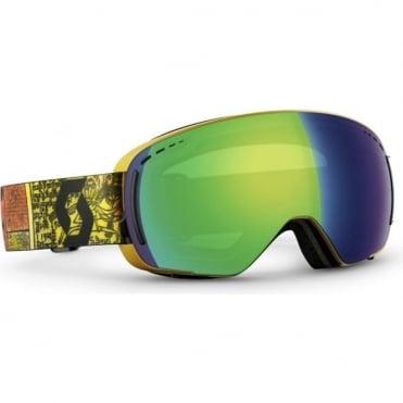 LCG Compact Goggles - Basecamp Orange/Green Chrome + Illuminator Blue Chrome Bonus Lens