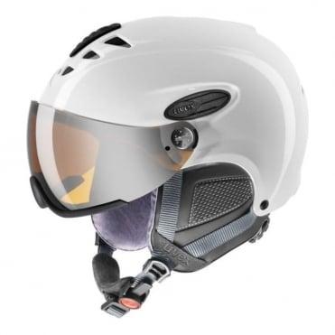 300 Visor Silver Lite Mirror S3 Helmet - White