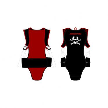 Junior Cranium Back Protector - Black/Red