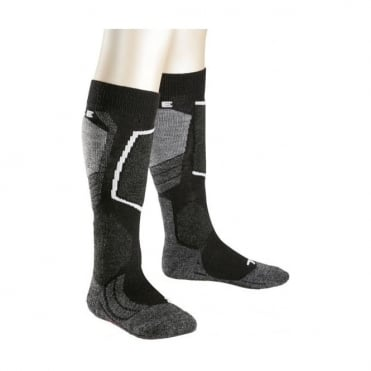Junior Sk2 Ski Socks - Black