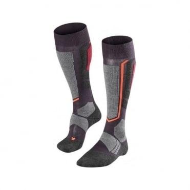 Wmns Ski Socks Sk2 - Purple/Grey