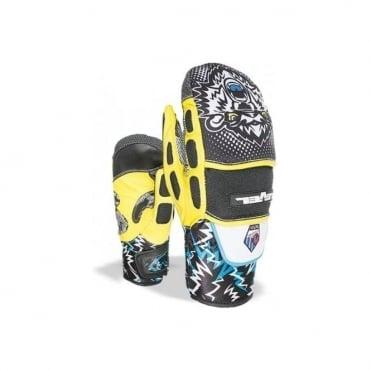 Junior Worldcup CF Race Mittens - Black/Yellow