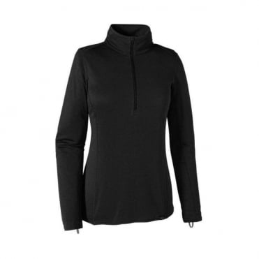 Wmns Mid Layer Capilene Midweight Zip Neck - Black