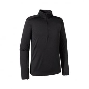 Mens Mid Layer Capilene Midweight Zip Neck - Black