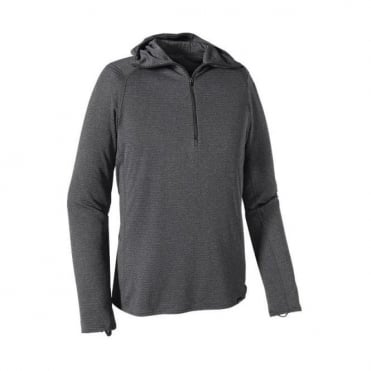 Mens Mid Layer Capilene Thermal Weight Zip Neck Hoody - Grey