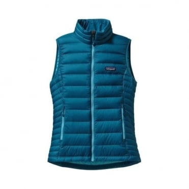 Wmns Mid Layer Down Sweater Vest - Underwater Blue