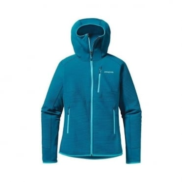 Wmns Mid Layer Dual Aspect Hoody - Underwater Blue