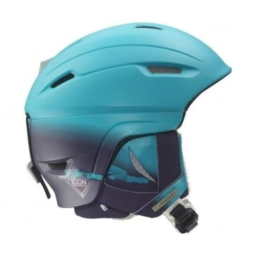 Salomon Ski Helmet Icon 4D Custom Air Blue/Purple