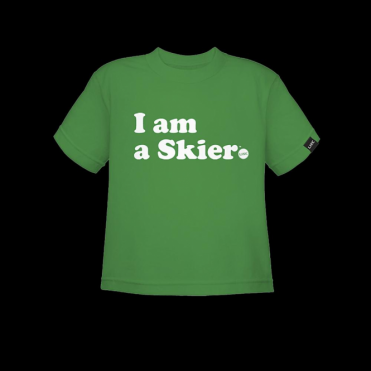 Toddler Skier T-Shirt - Green