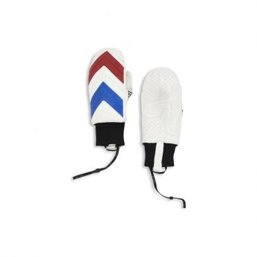 Unisex Moufla Mitten - White/Red/Blue