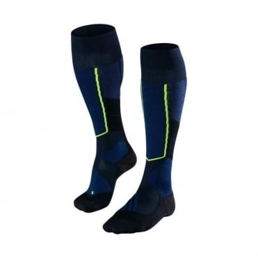 Men's ST4 Wool Ski Touring Socks - Marine Blue