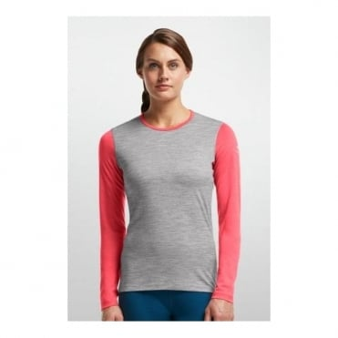 Wmns Base Layer LS Oasis Crew - Grey/Pink
