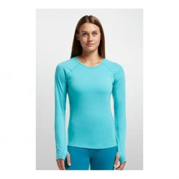 Wmns Base Layer Zone Ls Crewe - Blue