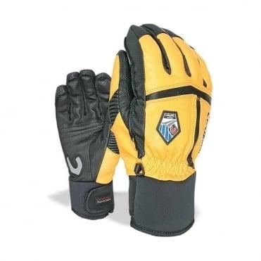 Off Piste Leather Glove - Orange/Black