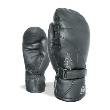 Wmns Classic Leather Mitten - Black