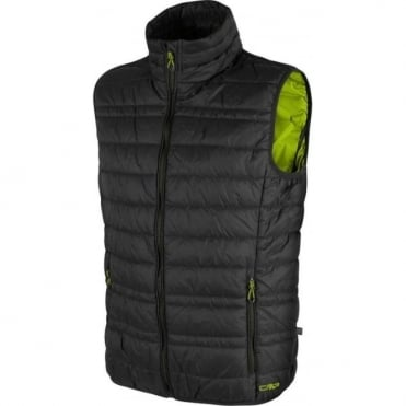 Mens Mid Layer Primaloft Vest - Anthracite/Blue