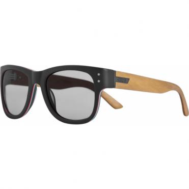 Belushki Shrastawood Polar + Hydrophobic Sunglasses - Black/Wood