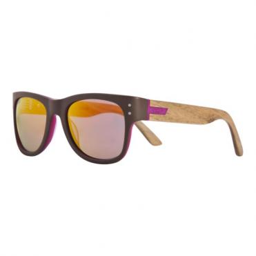 Belushki Elixirwood Sunglasses - Dark Brown/Wood